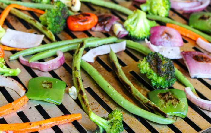 TEC Grills Infrared Grill Tray - Vegetables on the Grill