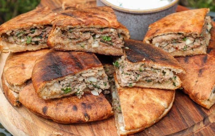 TEC Grills Burger Recipes - Lamb Pita Burgers with Yogurt Mint Sauce