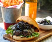 Bison Burgers with Balsamic Bacon Jam